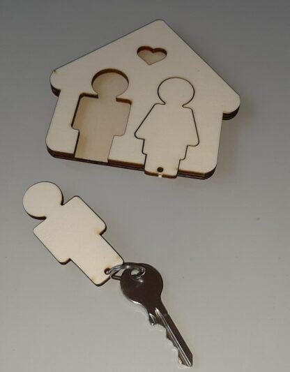 Ház kulcstartó
